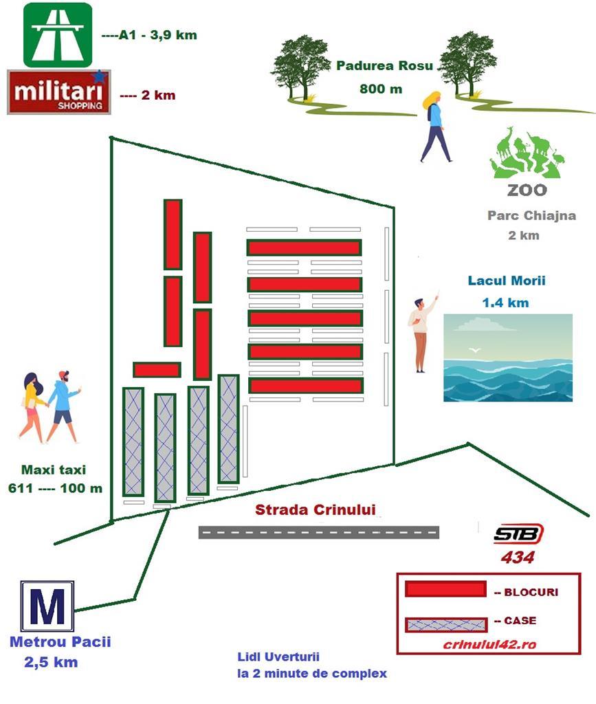 Zona Militari, Garsoniera 32mp, bucatarie inchisa, Direct Dezvoltator