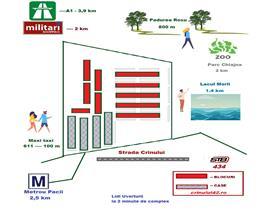 Dezvoltator Zona Militari  UverturiiAp 2 cam, decomandat La Cheie